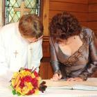 Anglican church wedding Hanmer Springs