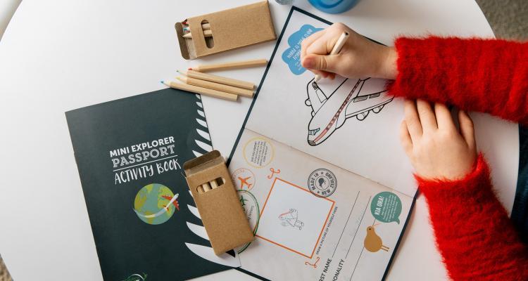 Christchurch Airport explorer packs for kids